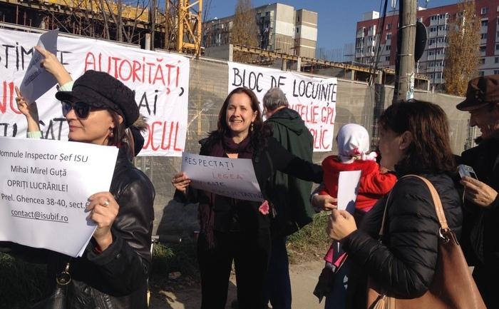 Protest în Prelungirea Ghencea, 14 noiembrie 2015.